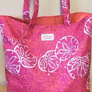 Lilly Pulitzer for Estee Lauder Pink White Bag NEW